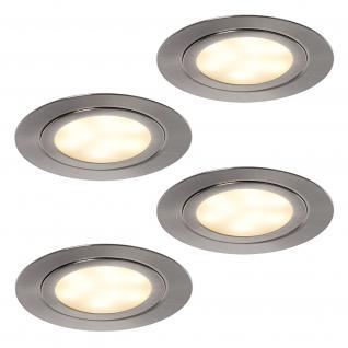 LED 4-er Set Küchen Einbau Strahler Leuchte Spot Lampe ALEXA Regalboden *552047