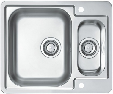 Küchenspüle 61, 5 cm Edelstahl Einbauspüle Hahnloch Ablaufgarnitur Spüle *1085946