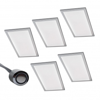 5-er Set LED Licht Küchen Unterbauleuchte BASSO 5 x 6 W Warmweiss Dimmer *567874