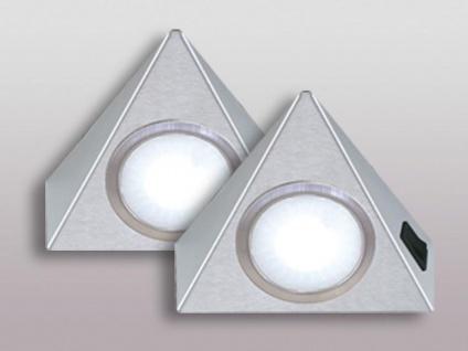 LED Dreieck Möbel Küchen Unterbauleuchte 2 x 3, 5 Watt Warmweiss Lampe *543656