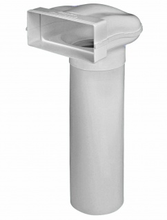 Flachkanal Umlenkstück 222x89 mm zu Ø 150 mm Rundrohr 100 cm Abluft Küche *50559