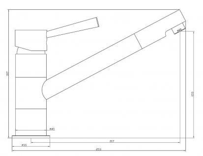 Spültisch Küchenarmatur CORNA Kupfer Wasserhahn schwenkbar Einhandmischer *0549 - Vorschau 2