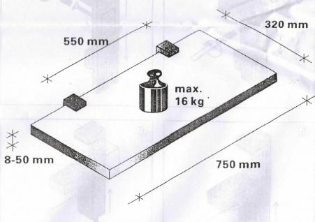 Regalbodenhalter Regalbodenträger 8-50 mm Edelstahl Optik Regalhalter *506-07 - Vorschau 5