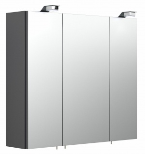 Badezimmer Spiegelschrank 70cm Badspiegel anthrazit EEK A+ LED Beleuchtung *5423