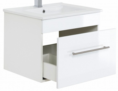 Waschplatz 61, 5 cm VIVA hängend Keramikbecken Schublade Waschtisch Gäste WC Bad