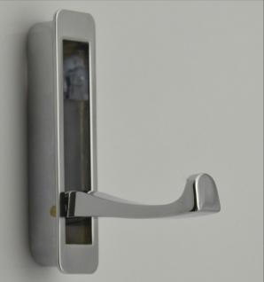 Klapphaken Kleiderhaken klappbar zum Einbauen Garderobenhaken chrom *528-04