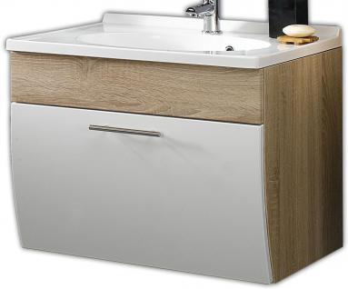 Waschtisch Softeinzug 70 cm Gäste WC Waschplatz Mineralguss Waschbecken *5601-24