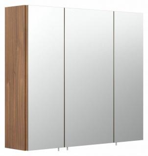 Badezimmer Spiegelschrank 70 cm Spiegel Holzdekor 3-türig ohne Beleuchtung *5484