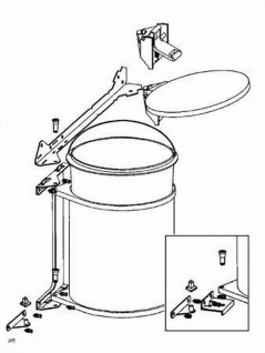 Wesco Küchen Abfall Mülleimer 11 L Bad Kosmetikeimer Ausschwenkautomatik *40053 - Vorschau 2