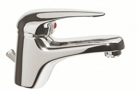 Badarmatur Niederdruck Waschtischarmatur niedrig Waschbeckenarmatur chrom *0441