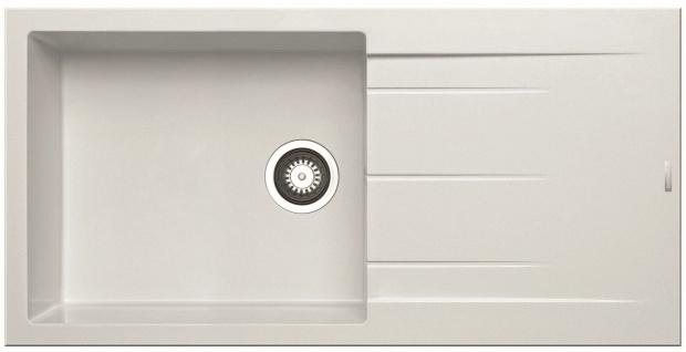 Einbauspüle 100x50 cm moderne Küchenspüle Alazia Plus großes Becken *079813812