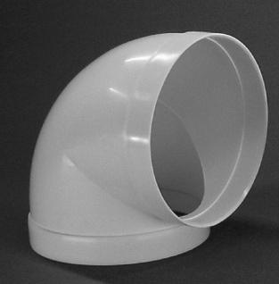 Rundrohrbogen Ø 125 mm Abluft-Bogen 90° Muffe beidseitig Dunstabzug Küche *50087