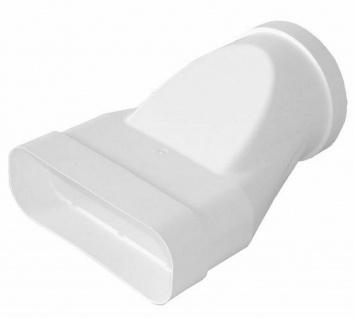 Übergangsstück Flachkanal Abluft 230x80 mm auf Ø 150 mm Abzugshaube Küche *50464