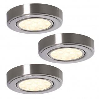 LED 3-er Set Strahler Küchen Aufbauleuchte Lampe 3 x 3 W Edelstahloptik *552252