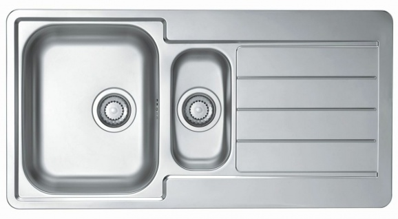 Küchenspüle Line 10 Einbauspüle 98x50 cm Spüle edelstahl 1, 5 Spülbecken *1064281