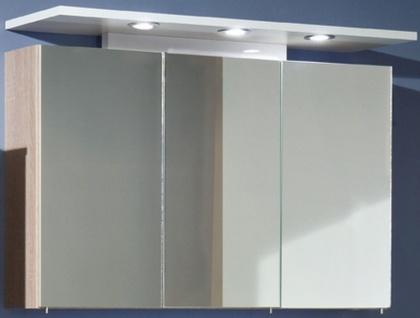 3 tlg Badset Waschtisch 100 cm LED Spiegelschrank Waschplatz Hochschrank ZO-3007 - Vorschau 2