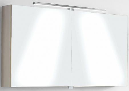 Badset 4 Teile Badmöbel Waschplatz 110 cm LED Spiegelschrank montiert *4001-Har - Vorschau 3