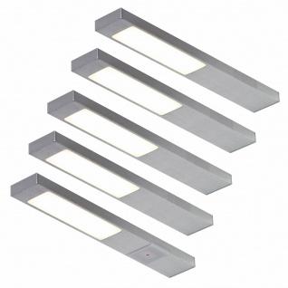 LED 5er Unterbauleuchte Küche 5 x 2, 2 W Unterbaulampe Neoplan warmweiß *551712