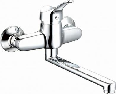 Abwasch Küchenarmatur Wasserhahn Wandmontage Einhandmischer Schwenkauslauf *0400