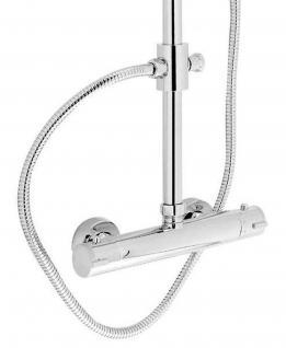 Thermostat Brause Duschset Duschstange variabele Höhe 95-125 cm Kopfbrause *0804 - Vorschau 4