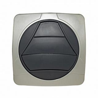 Design Aussengitter eckig Rückstauklappe magnetisch Abluft Ø 125 mm Dunstabzug
