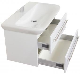 Badmöbel Waschplatz 80 cm Waschtisch Keramag Becken SoftClose Aufgebaut *MyDay80
