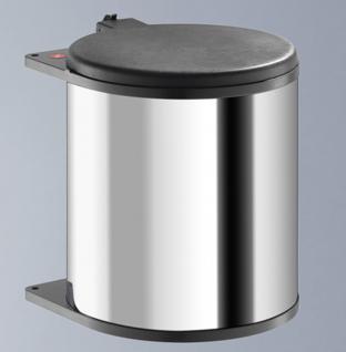 Hailo Big Box Edelstahl Mülleimer Küche 15 Liter Kosmetikeimer Hubdeckel *43725