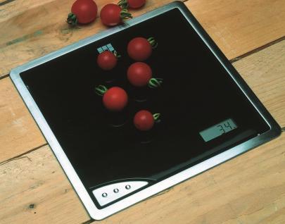 Einbau-/Küchenwaage Glas Edelstahl 210 x 210 mm Digitalanzeige max 5 kg *532575 - Vorschau 3