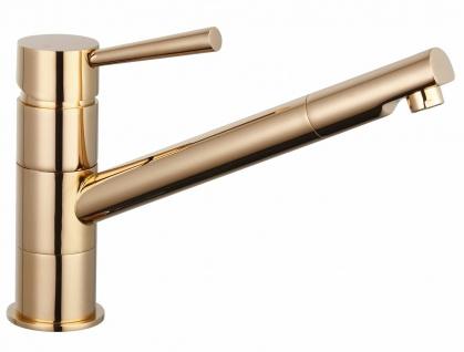 Spültisch Küchenarmatur CORNA Kupfer Wasserhahn schwenkbar Einhandmischer *0549