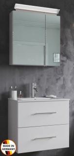 Waschplatz Homeline 60 cm LED Spiegelschrank Gäste Bad Badset Waschtisch weiss