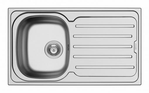 Einbauspüle 86 cm Edelstahl Küchenspüle Camping Spüle Hahnloch Ablauf *101101712