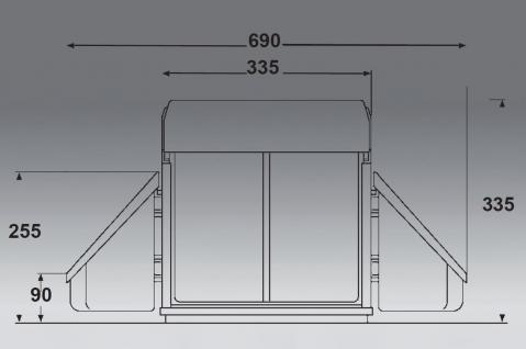 wesco corner boy m lleimer k che 2 x 16 liter eckschrank abfalleimer 40301 kaufen bei. Black Bedroom Furniture Sets. Home Design Ideas