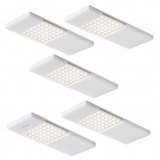 LED Küchen Unterbauleuchte 5x4 W Lichtfarbe (warm bis kaltweiß) regelbar *557974