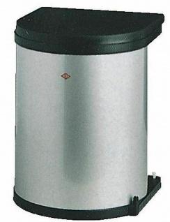Wesco Küchen Abfall Mülleimer 11 Liter Bad Kosmetikeimer Grau Türmontage *514335 - Vorschau
