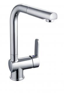 Niederdruck Spülbecken Küchenarmatur DORA Geschirrbrause Wasserhahn Chrom *1110