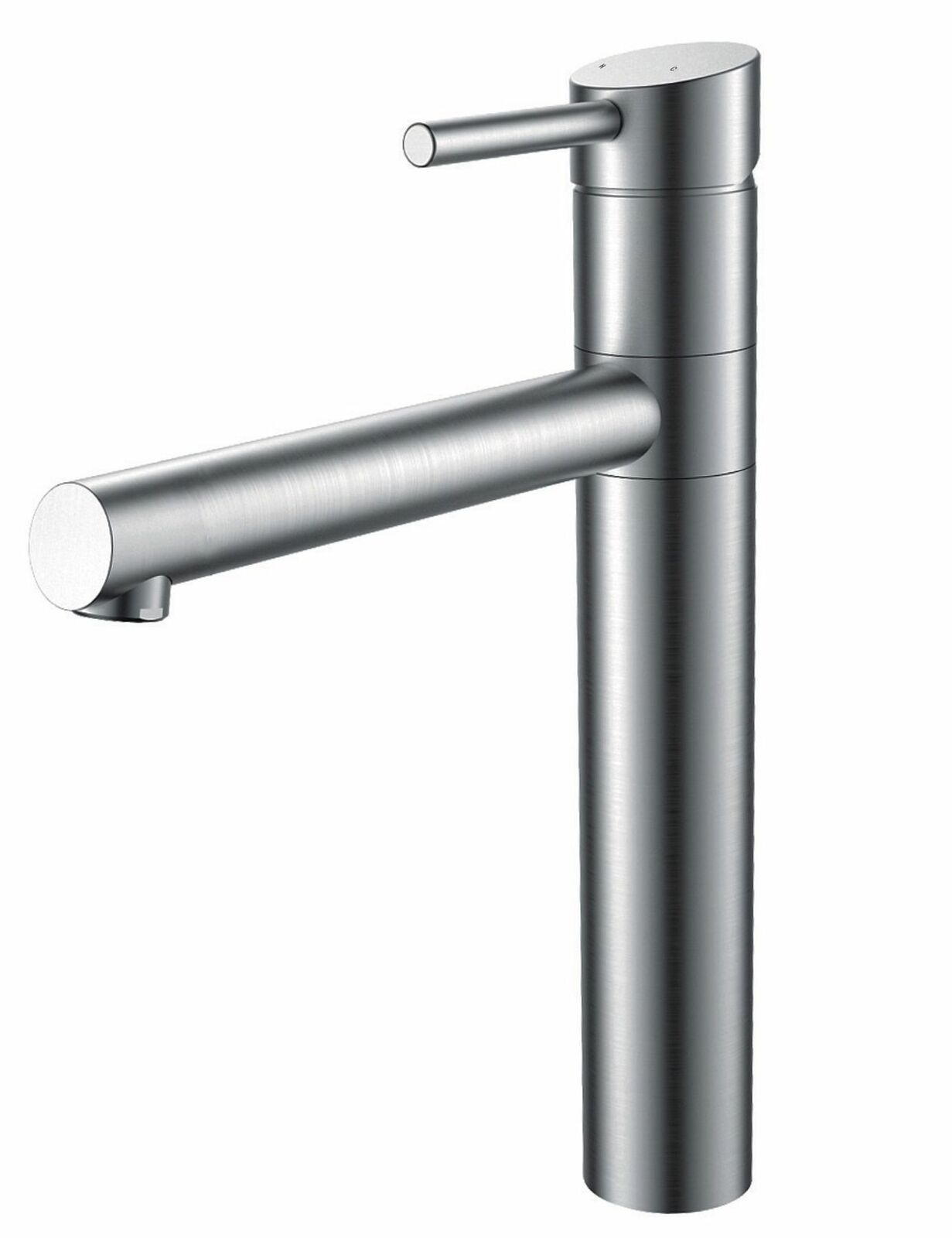 Küchen Armatur Edelstahl Massiv Wasserhahn 90° Schwenkbar Mischbatterie  *0576 1 ...