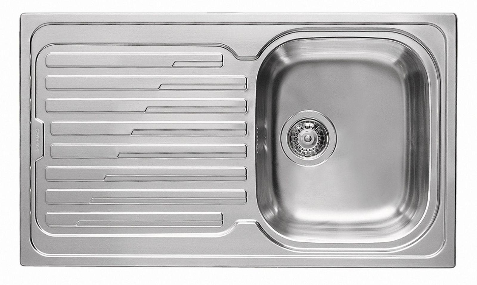 Pyramis Einbau Küchenspüle 860 x 500 mm Fernbedienung 1 Spülbecken ...