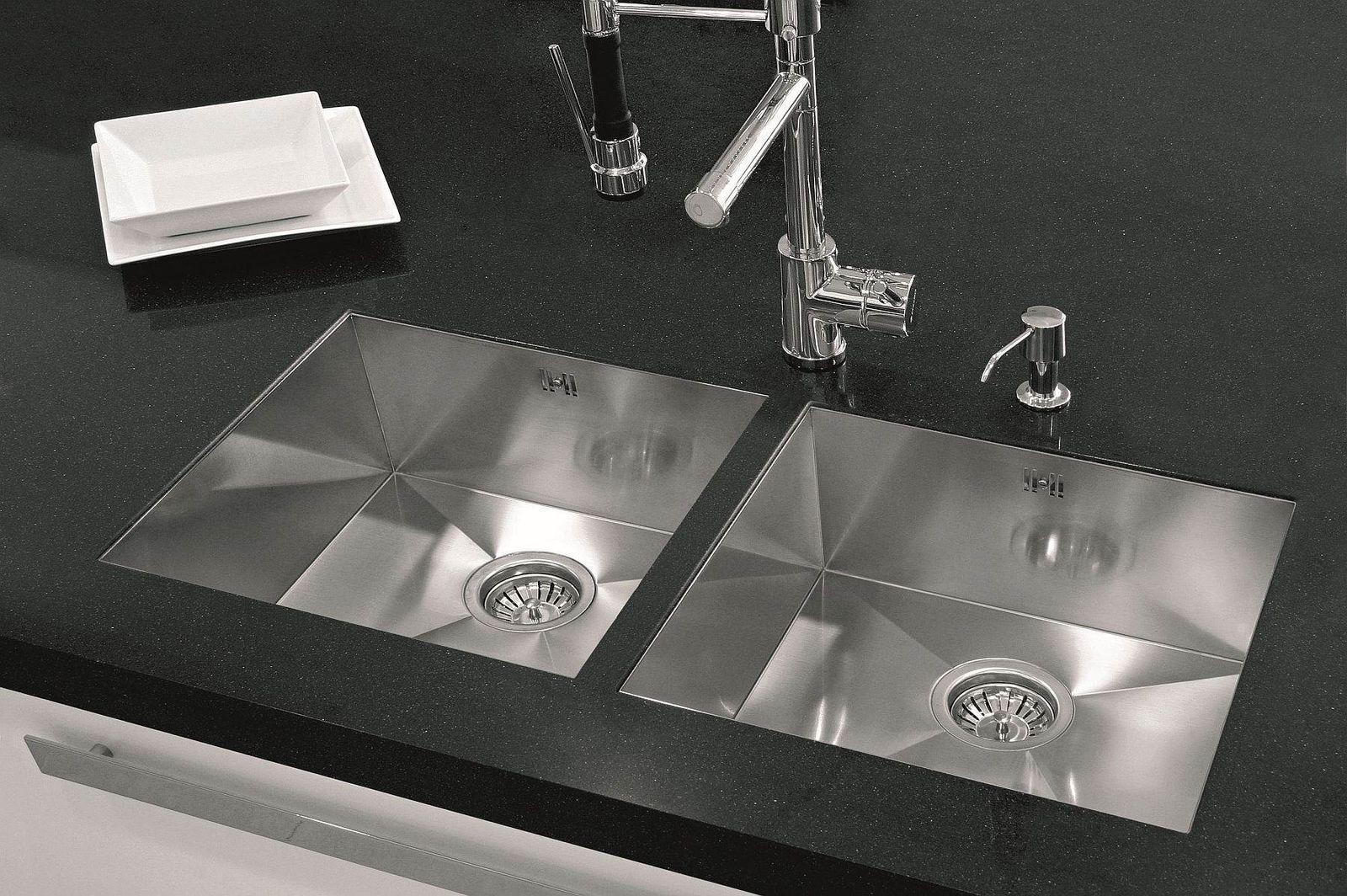 küchen einbau unterbauspüle flächenbündig 50 x 40cm spülbecken