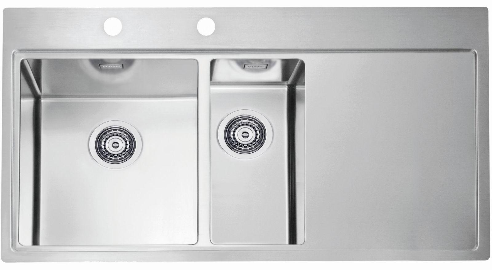 Alveus Pure 60 Einbau Küchenspüle 980 x 525 mm Spül 1, 5 ...