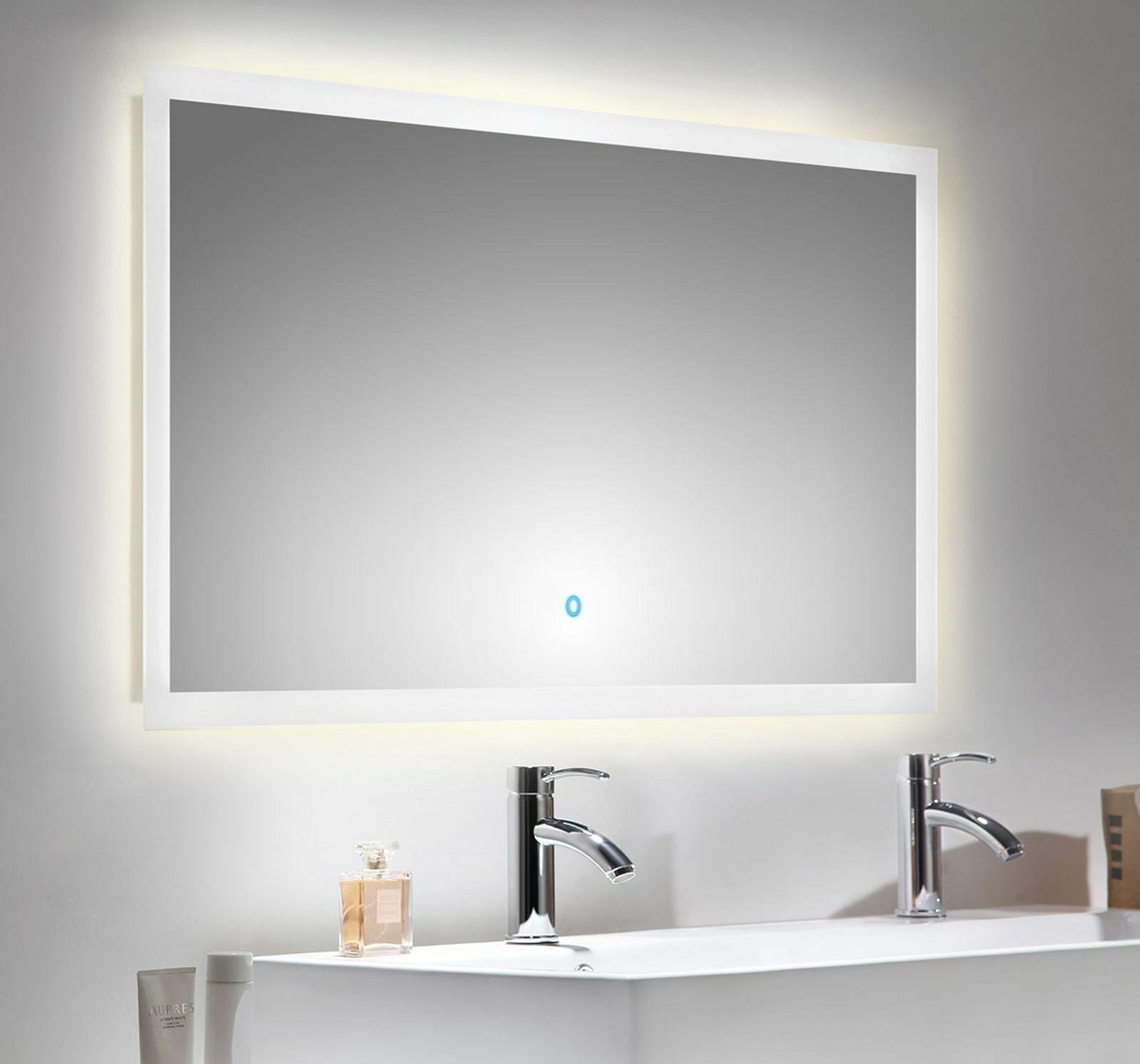 LED Badezimmer Spiegel EMOTION 120 x 65 cm Touch Bedienung 34 Watt ...