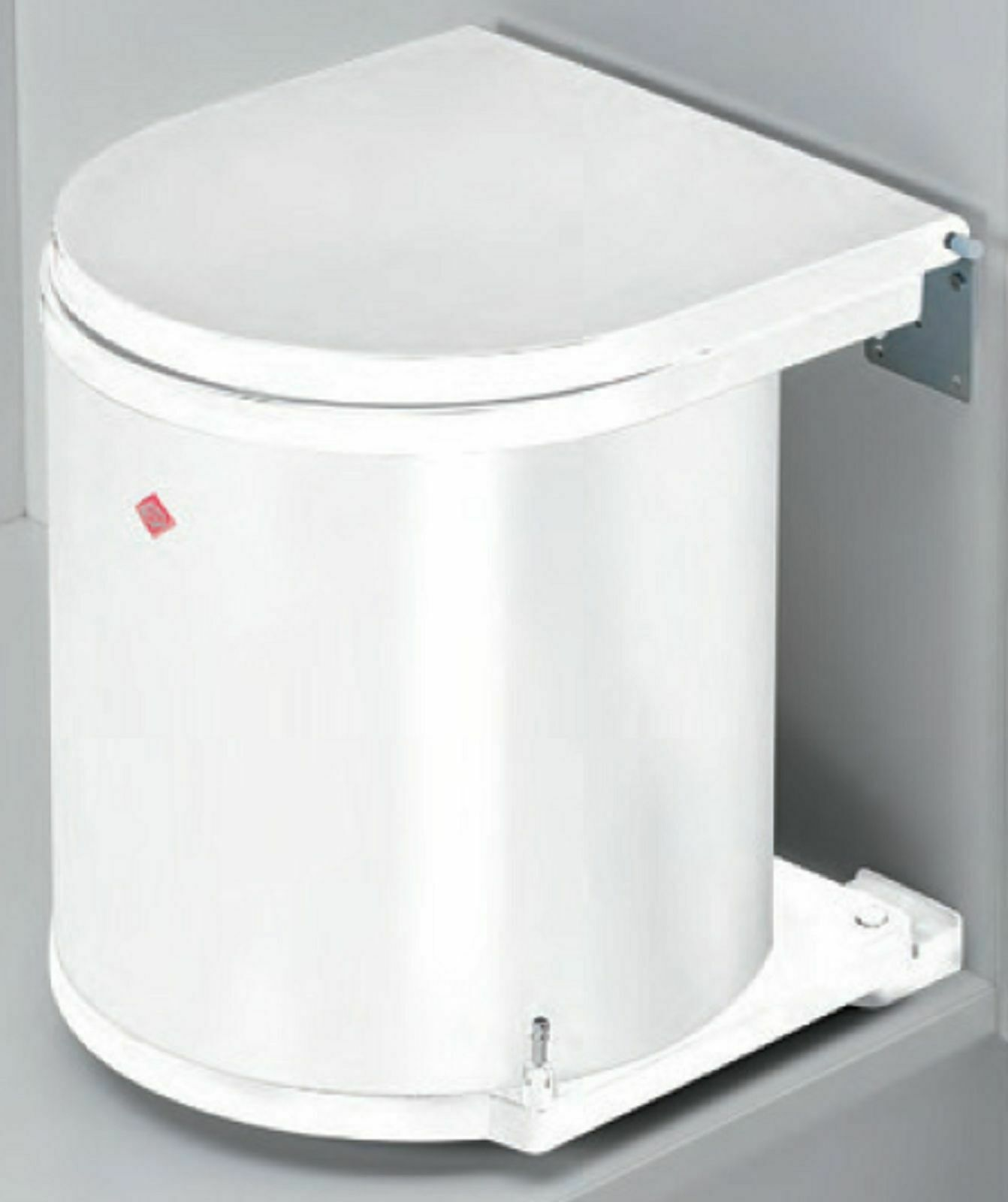 Einbau-Mülleimer Küche Bad 15L Kosmetikeimer Müllsammler Abfalleimer weiß  *40656