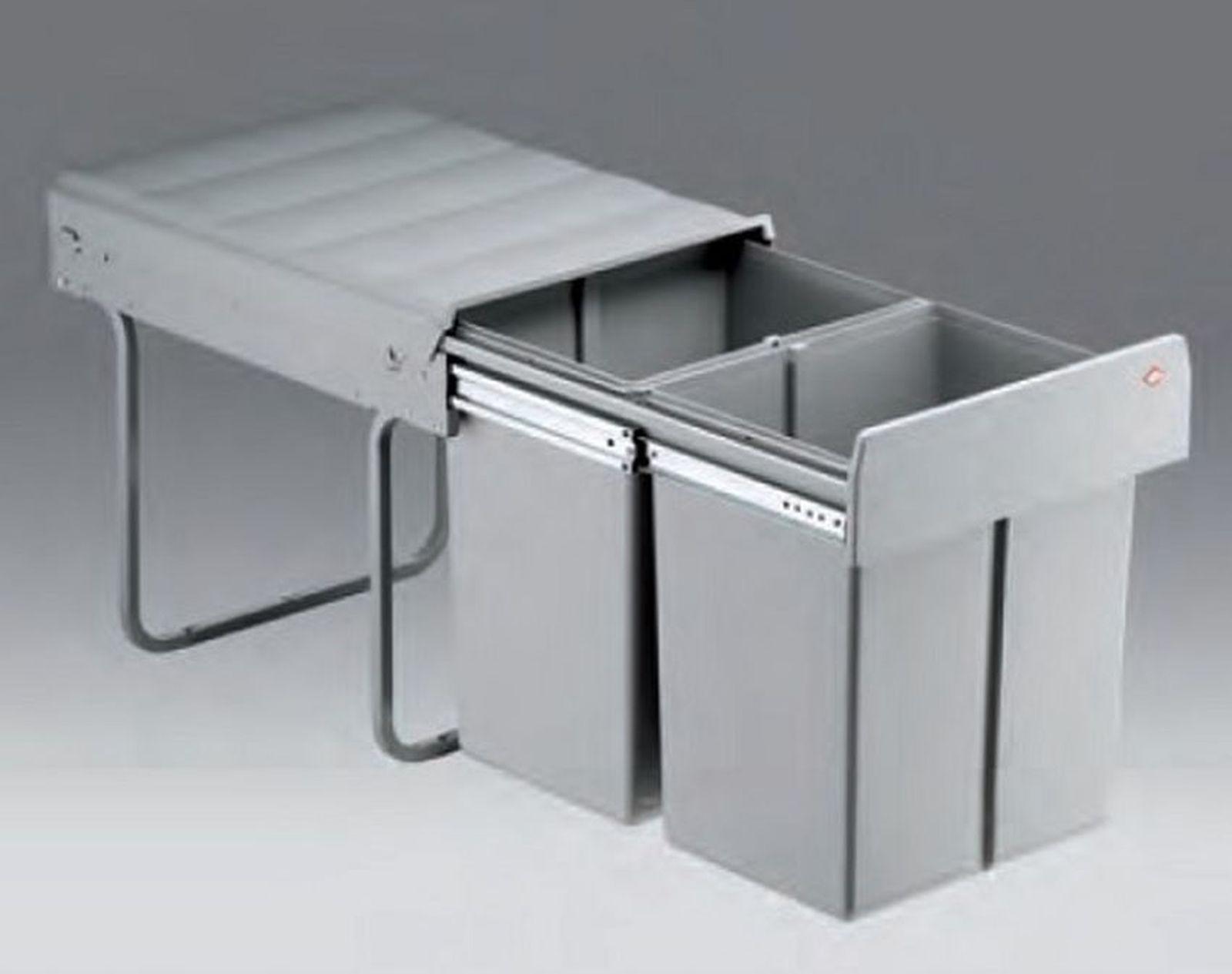 Wesco Double Master 40 DT Küchen Einbau Mülleimer 2 x 16 L ...