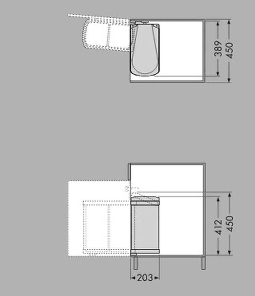 Hervorragend Hailo Duo Edelstahl Bio Mülleimer Küche 2 x 8 Liter Bad  UZ42