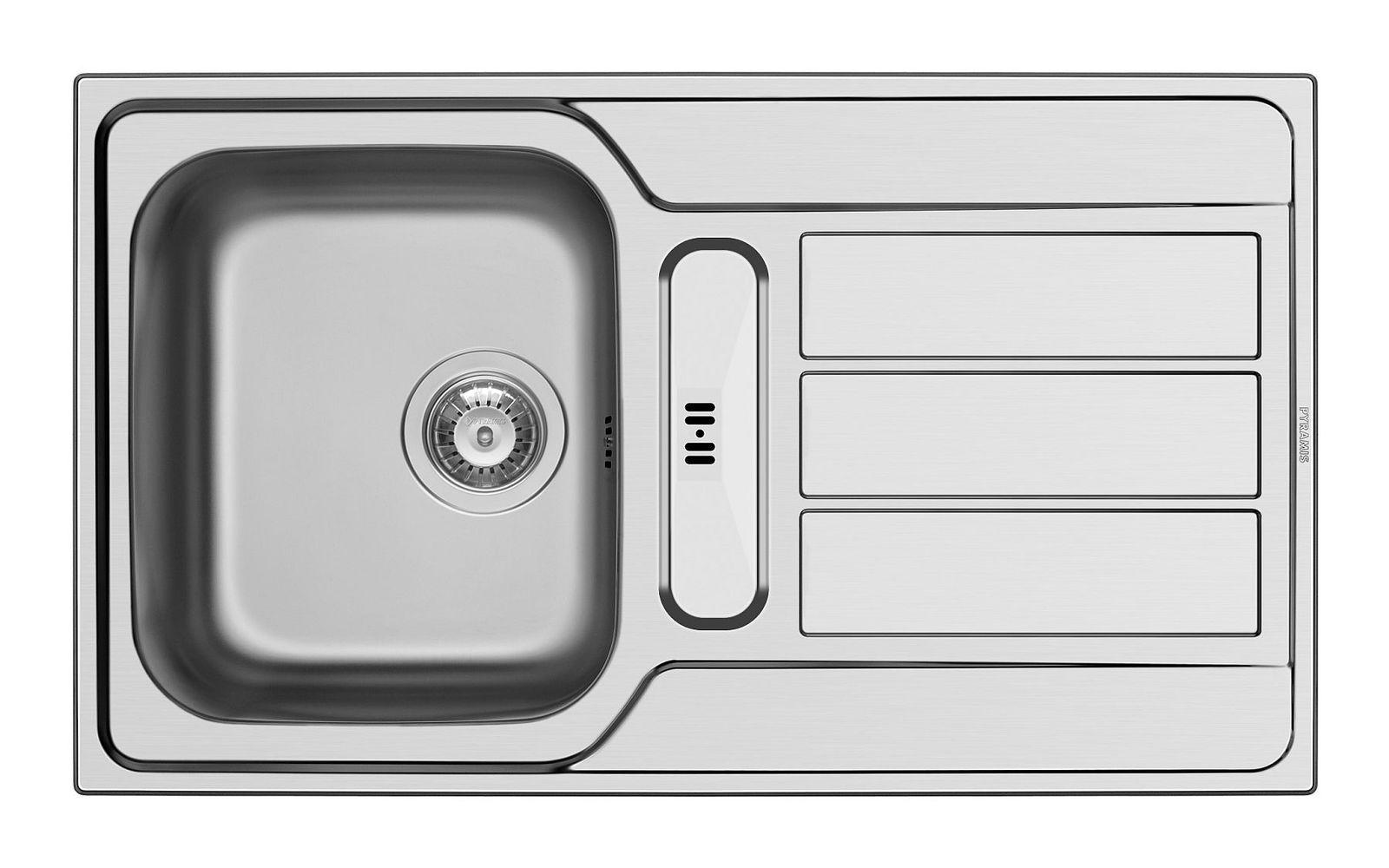 Edelstahl Küchenspüle 86 x 50 cm Spülbecken flächenbündig Flachrand ...