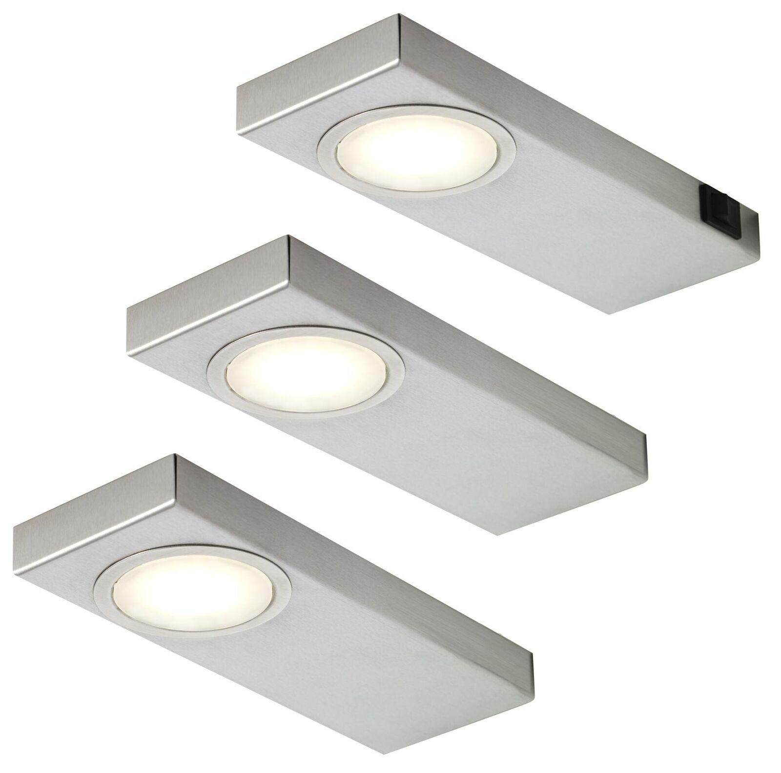 LED Küchen Unterbauleuchte 19x19, 19 W Edelstahl 19-er Set Unterbaulampen  *1949290