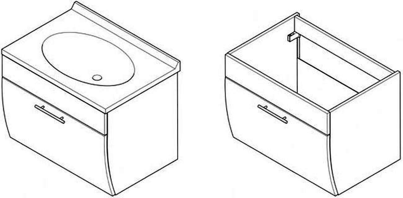 waschplatz gäste badezimmer waschtisch 70 cm softeinzug, Badezimmer ideen
