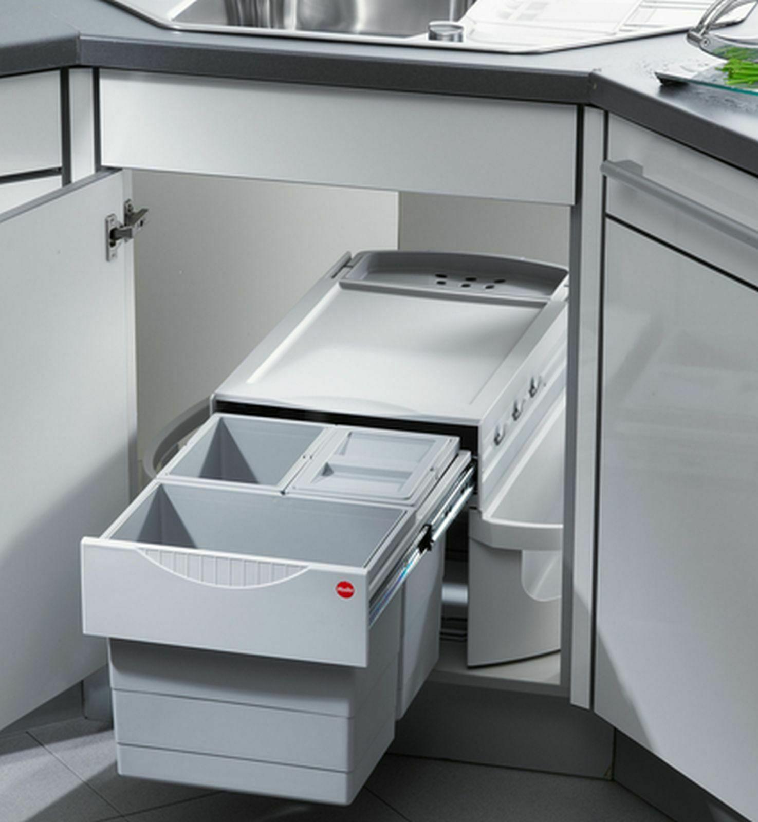 Küchen Mülleimer 360° drehbar Hailo Rondo Müllsystem Einbau Mülltrennung  *47315