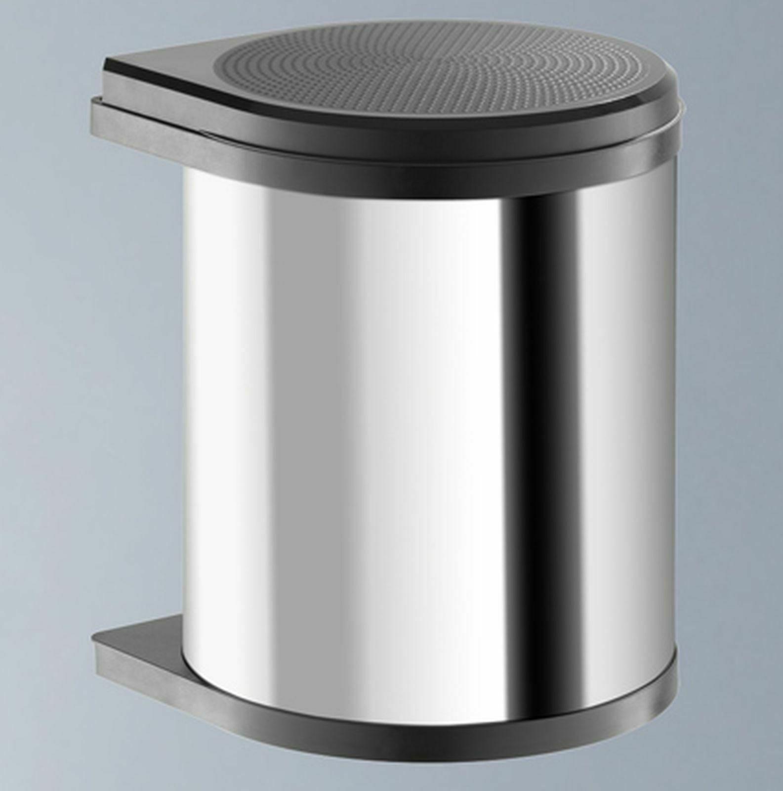 Einbau-Mülleimer Küche 12L Kosmetikeimer Edelstahl Abfalleimer Bioeimer  *515998