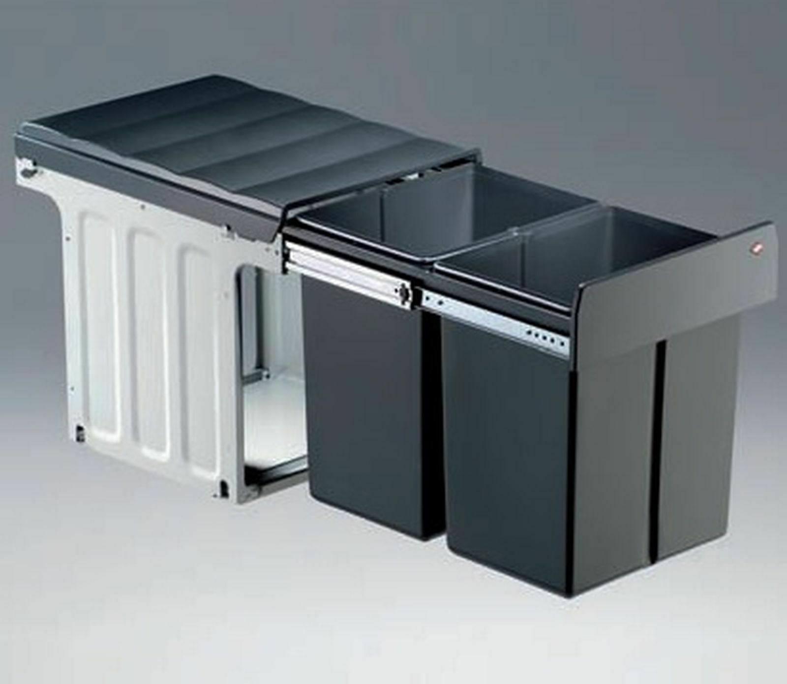 Küchen Mülleimer Wesco Mülltrennung 2x16 Liter Schrank Einbau ab 40 cm  *40310
