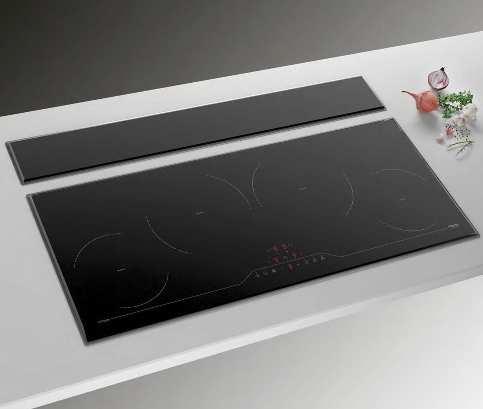 4 x glas induktions kochfeld timer edelstahl abzugshaube. Black Bedroom Furniture Sets. Home Design Ideas